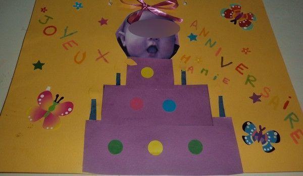 Carte anniversaire - Cadeau anniversaire mamie a fabriquer ...
